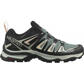 Zapatillas trekking Salomon X Ultra 3 GTX verde mujer