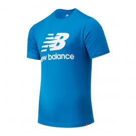 Camiseta New Balance Essentials Stacked azul hombre