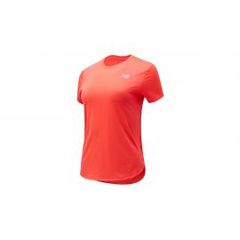 Camiseta Running New Balance Accelerate coral mujer