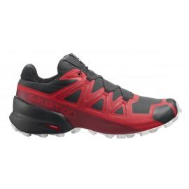 Zapatillas trail running Salomon Speedcross 5 rojo hombre