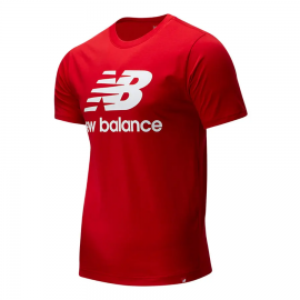 Camiseta New Balance Essentials Stacked rojo hombre