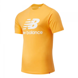 Camiseta New Balance Essentials Stacked naranja hombre