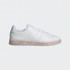 Zapatillas adidas Advantage blanco rosa mujer