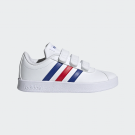 Zapatillas adidas VL Court 2.0 CMF blanco azul rojo infantil