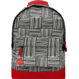 Mochila Mi-Pac Mini Backpack gris rojo