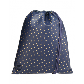 Bolsa de Gimnasio Mi-Pac Gold Kit Bag azul corazones oro
