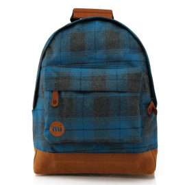 Mochila Mi-Pac Premium Backpack U azul negro cuadros