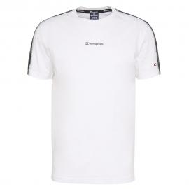 Camiseta Champion Cuello Redondo  blanco hombre