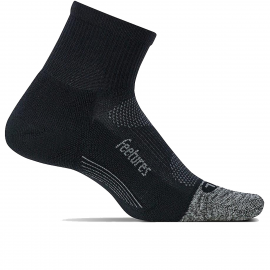 Calcetín Feetures Light Cushion Quarter negro