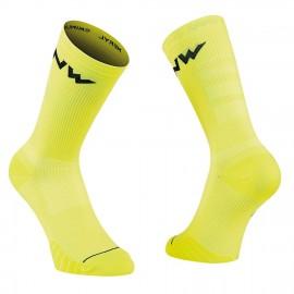 Calcetin alto Northwave Extreme Pro amarillo fluor-negro uni