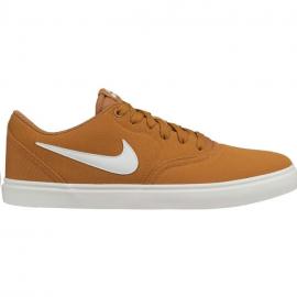 Zapatillas Nike Sb Check Solar Cnvs marrón junior