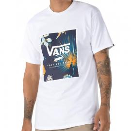 Camiseta Vans Classic Print Box blanco hombre
