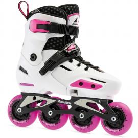 Patines extensibles Rollerblade Apex G blanco rosa junior