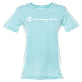 Camiseta Champion cuello redondo Celeste mujer