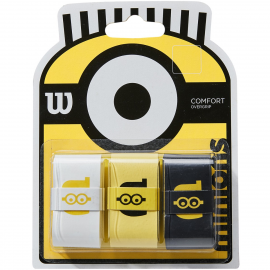 Overgrip Wilson Minions 3pk blanco amarillo negro