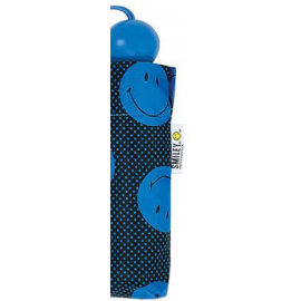Paraguas plegable Smiley 54 x 7 cm 22174  azul