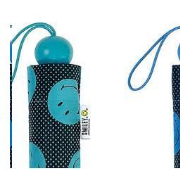Paraguas plegable Smiley 54 x 7 cm 22174 turquesa