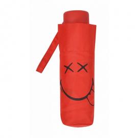 Paraguas plegable Smiley World 25172 rojo
