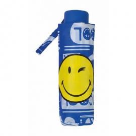 Paraguas plegable Smiley World 25176 azul
