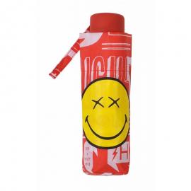 Paraguas plegable Smiley World 25176 rojo