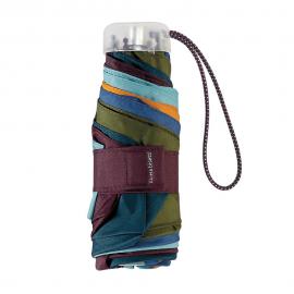Paraguas plegable Bisetti Arlequín granate azul multicolor