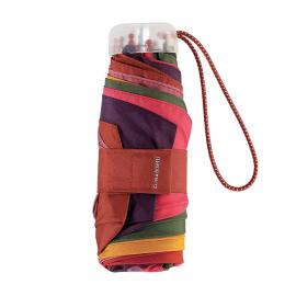 Paraguas plegable Bisetti Arlequín marrón multicolor