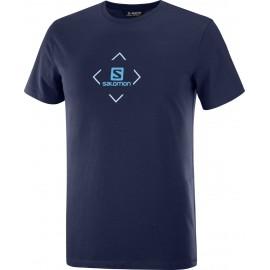 Camiseta outdoor Salomon Cotton Tee azul hombre