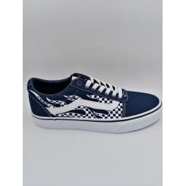 Zapatillas Vans Ward azul/blanco cuadros hombre
