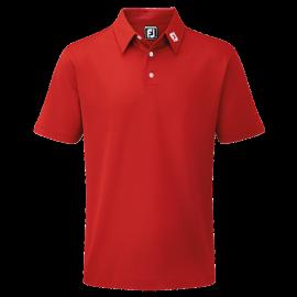 Polo de golf Footjoy Pique Solid rojo hombre