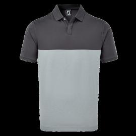 Polo de golf Footjoy Stretch lisle gris hombre