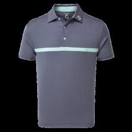 Polo de golf Footjoy Eng Nailhead JQRD azul