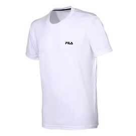 Camiseta Fila Logo Small blanco junior
