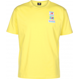 Camiseta New Balance Essentials Tag Tee amarillo hombre