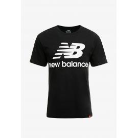 Camiseta New Balance Essentials Stacked negro hombre