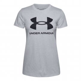 Camiseta Under Armour Libe Sportstyle gris mujer
