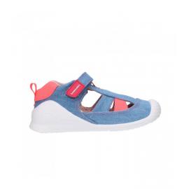 Sandalias lona Biomecanics 212215 azul infantil