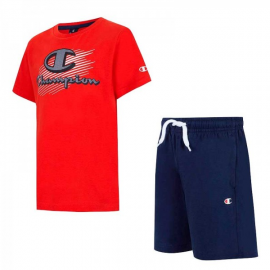 Conjunto Champion Camiseta y Pantalón 305215 rojo marino