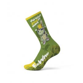 Calcetines altos Funstep Freewaves Tortuga Verde