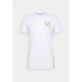 Camiseta New Era Metallic Tee NY Yankees blanco hombre