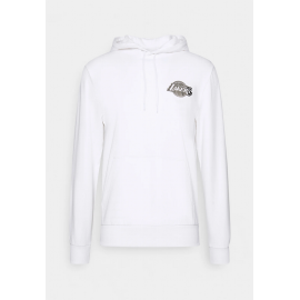 Sudadera New Era Metalic Hoody LA Lakers blanco hombre