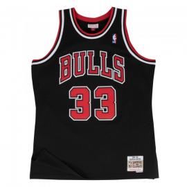 Camiseta NBA Mitchell&Ness Bulls Pippen negra