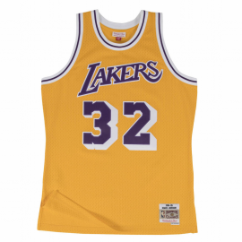 Camiseta NBA Mitchell&Ness Lakers Magic amarillo hombre