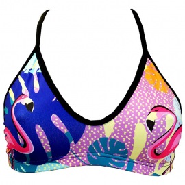 Top de natación Turbo Flamingo multicolor mujer