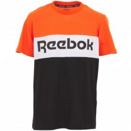 Camiseta Reebok Big Intl naranja negro niño