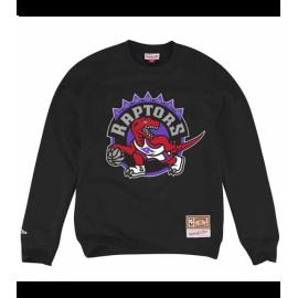 Sudadera Mitchell & Ness Logo Raptors negro hombre