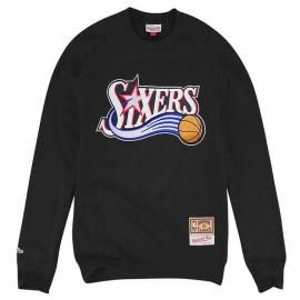 Sudadera Mitchel l& Ness Logo Sixers negro hombre
