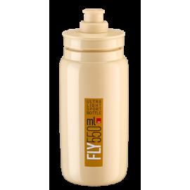 Bidon Elite Fly beige logo marron 550 ml