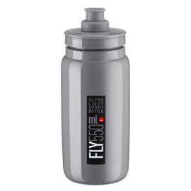 Bidon Elite Fly gris logo negro 550 ml