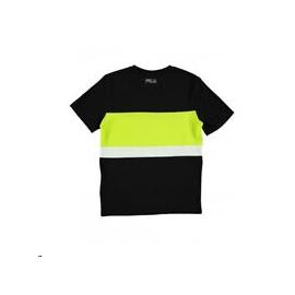 Camiseta manga corta Fila Mattia negro lima junior