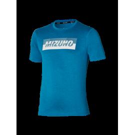 Camiseta training Mizuno Core Graphic azul hombre